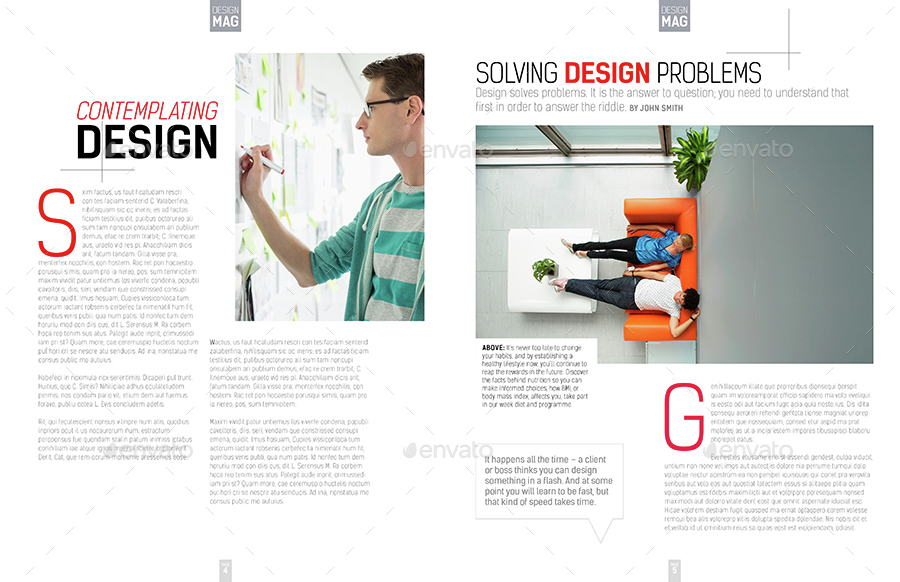 Magazine Template - InDesign 40 Page Layout V7 by
