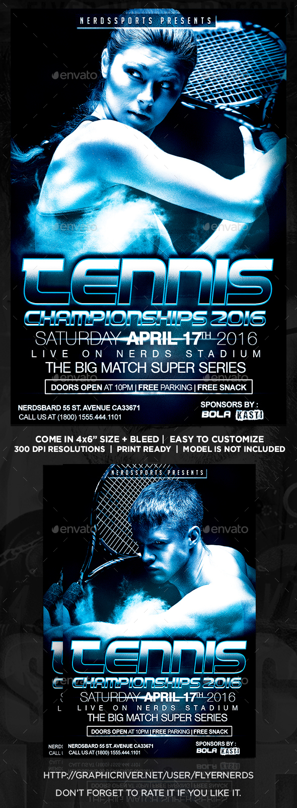 Tennis Championships 2K16 Sports Flyer - Sports Events