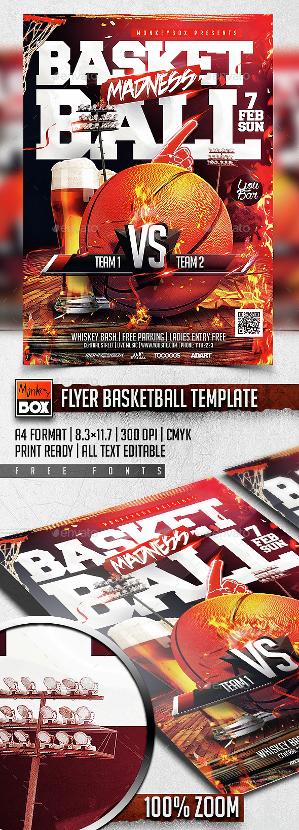 Flyer Basketball Template - Sports Events