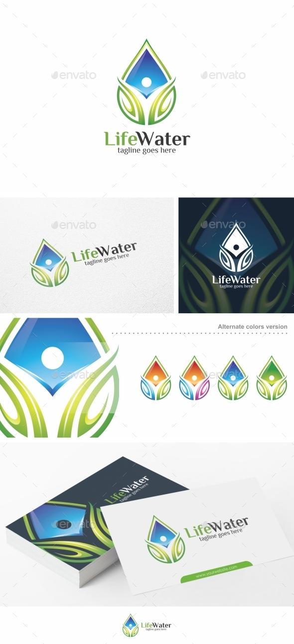 Life Water - Logo Template - Nature Logo Templates