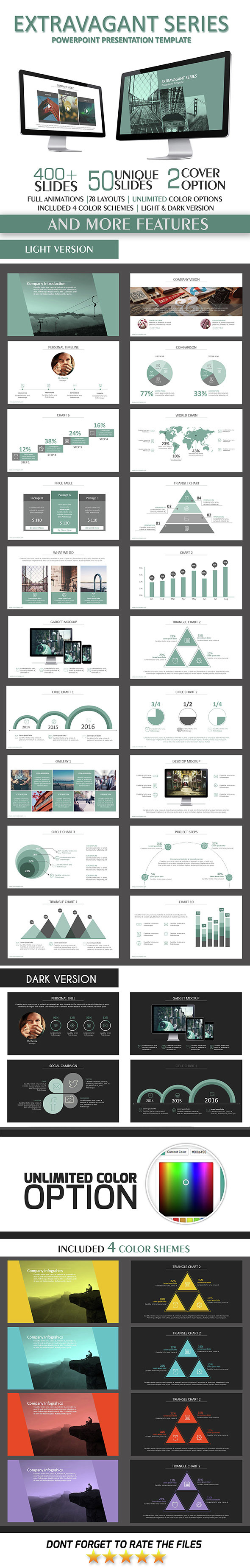 Extravagant PowerPoint Template - Business PowerPoint Templates