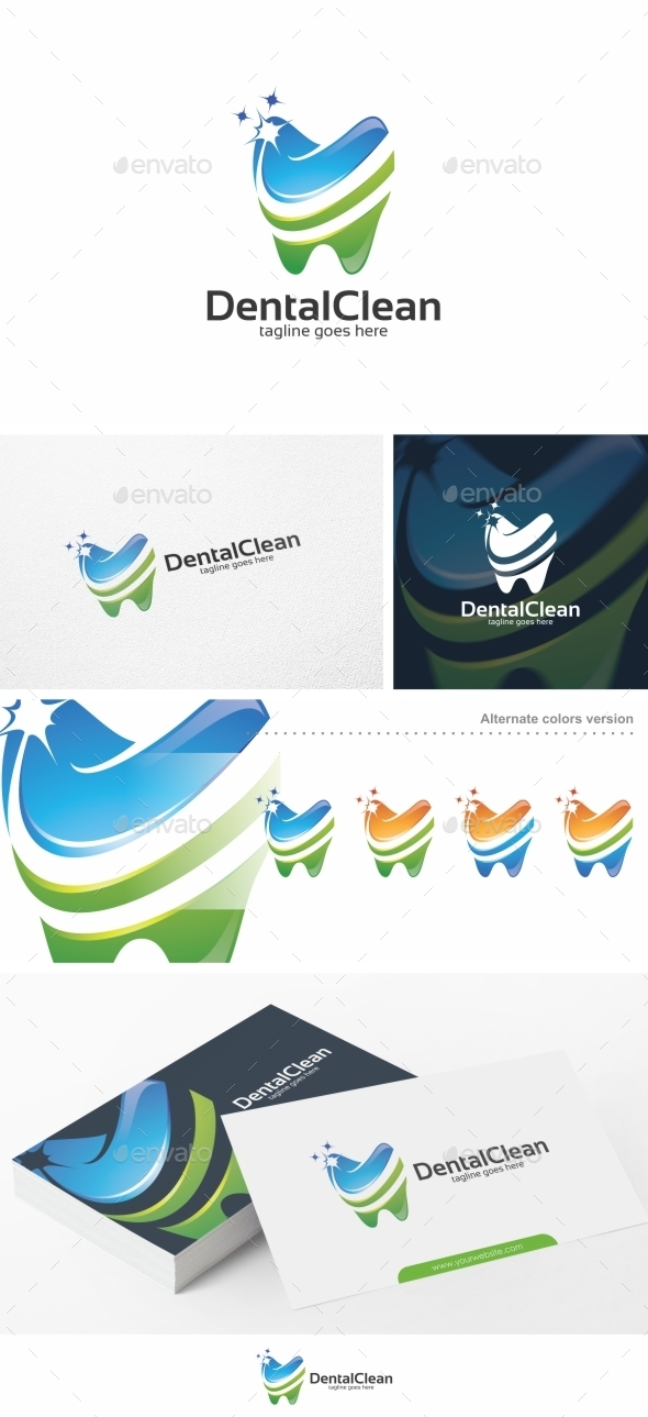 Dental Clean / Teeth - Logo Template - Objects Logo Templates