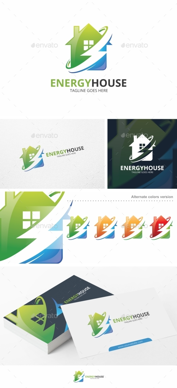 Energy House - Logo Template - Buildings Logo Templates