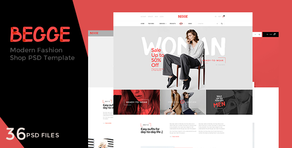 Begge – Modern Fashion Shop PSD Template