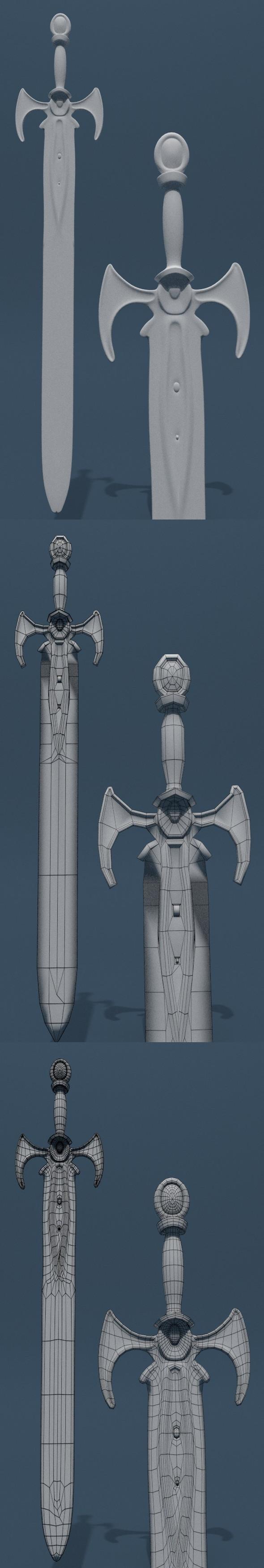 Sword Base Mesh (C)  - 3DOcean Item for Sale