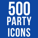500 Party Icons Bundle - GraphicRiver Item for Sale