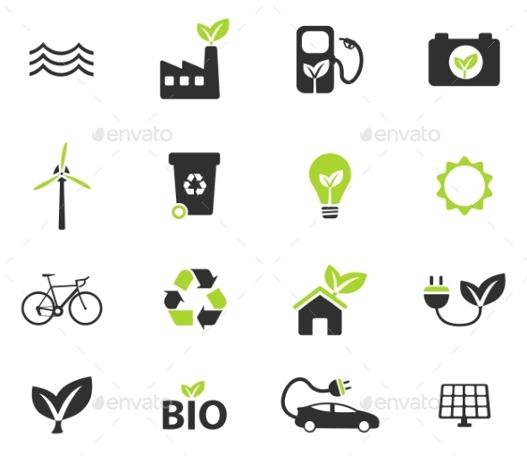 Alternative Energy Simply Icons - Icons