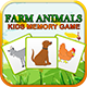 Farm Animals - Kids Learning Memory Game