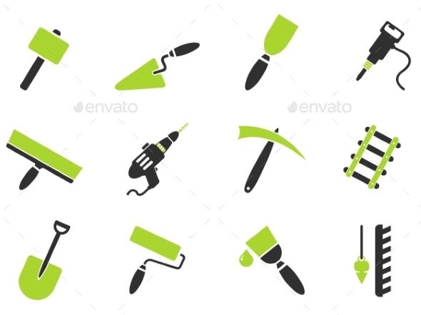 Symbols Of Building Equipment - Icons
