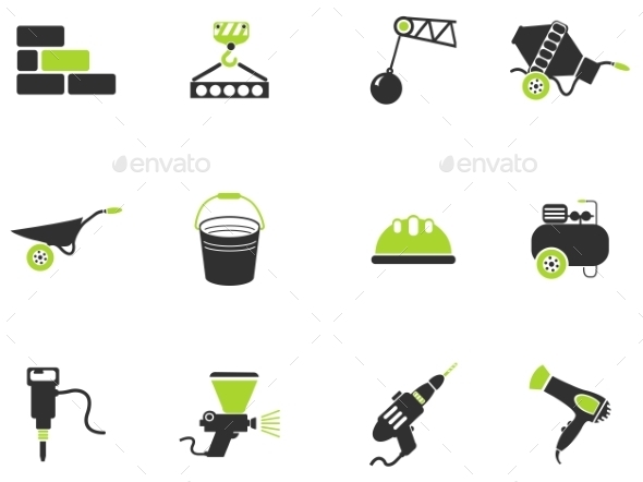 Symbols Of Building Equipment - Icons
