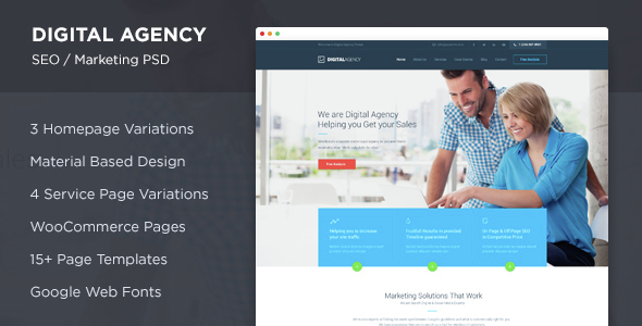 Digital Agency – SEO / Marketing PSD
