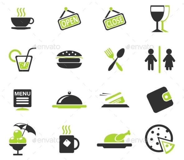 Cafe Silhouette Icons - Icons