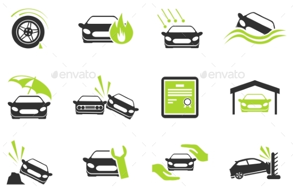 Car Insurance Icons - Icons