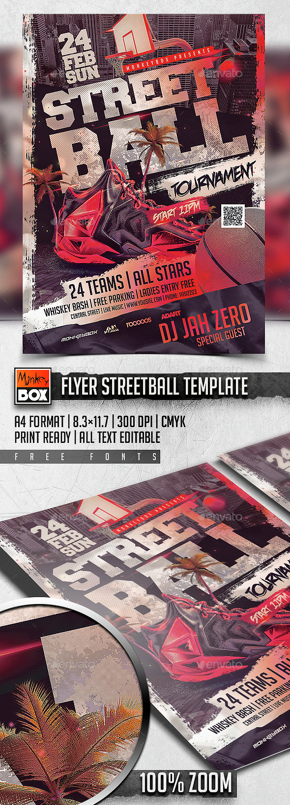 Flyer Streetball Template - Sports Events