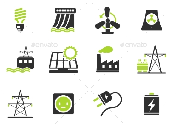 Icon Set, Energy And Industry - Icons