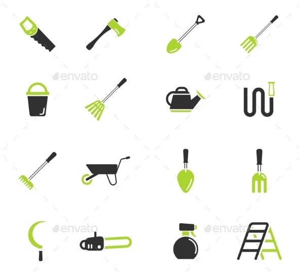 Garden Tools Simply Icons - Icons