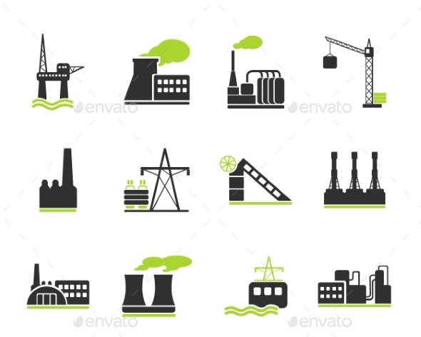 Factory And Industry Symbols - Icons