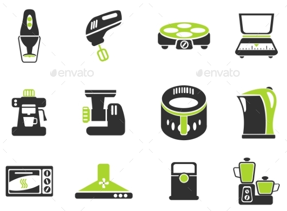Kitchen Utensils Icon Set - Icons