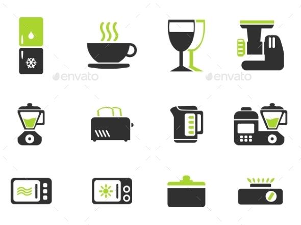 Kitchen Utensils Icon Set - Icons