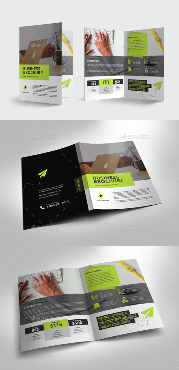 Multipurpose Business Bifold Brochure - Corporate Brochures
