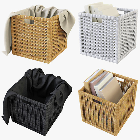 Rattan Basket Ikea Branas - 3DOcean Item for Sale