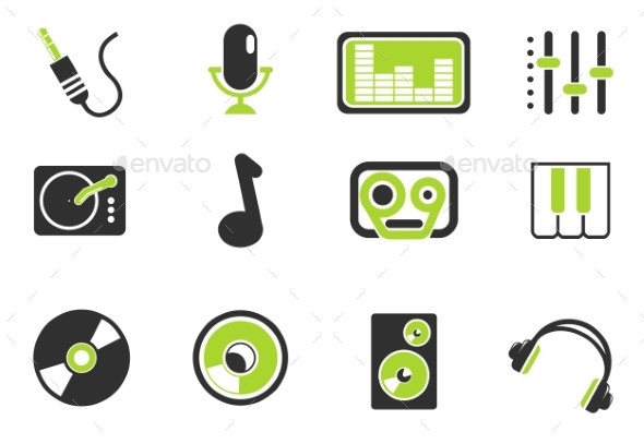 Audio And Music Simple Vector Icons - Icons