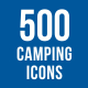 500 Camping Icons Bundle - GraphicRiver Item for Sale