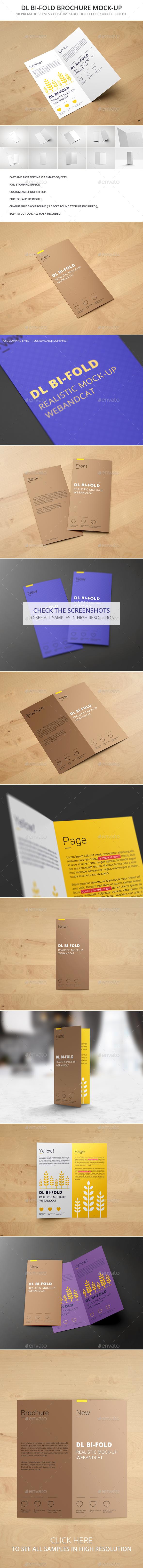 DL Bi-Fold Brochure Mockup - Brochures Print