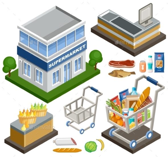Isometric Supermarket - Retail Commercial / Shopping