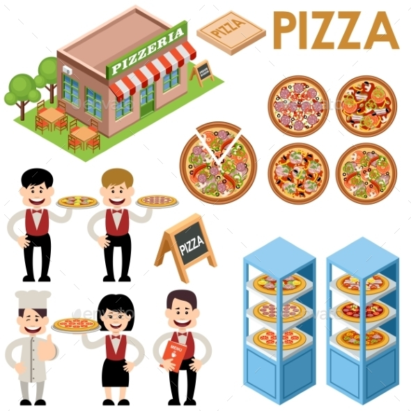 Pizza Set - Food Objects