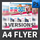 Sport Shop A4 Flyer Templates - GraphicRiver Item for Sale