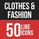 Clothes & Fashion Filled Line Icons