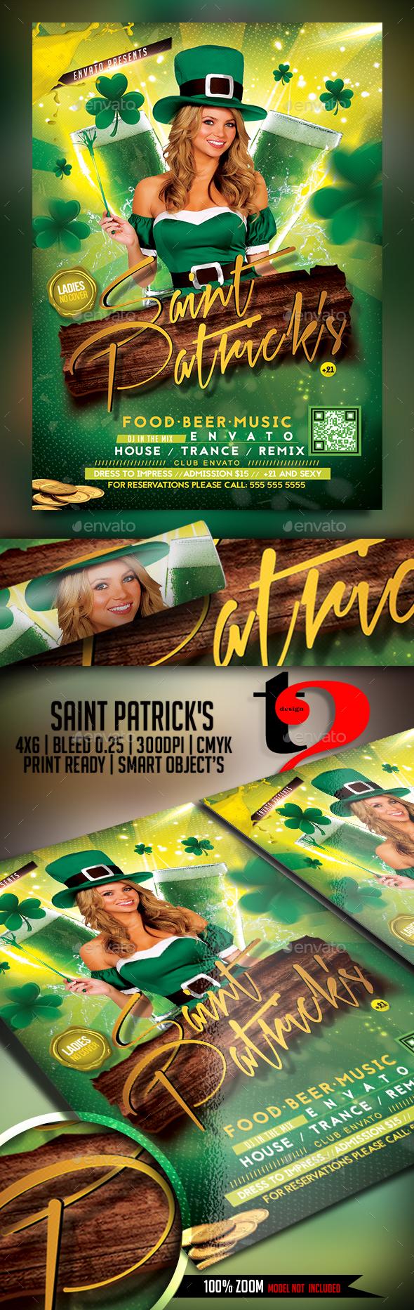 Saint Patrick's Party Flyer - Clubs & Parties Events