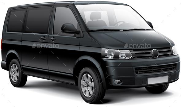 German Passenger Van - Objects Vectors