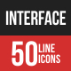 Interface Filled Line Icons