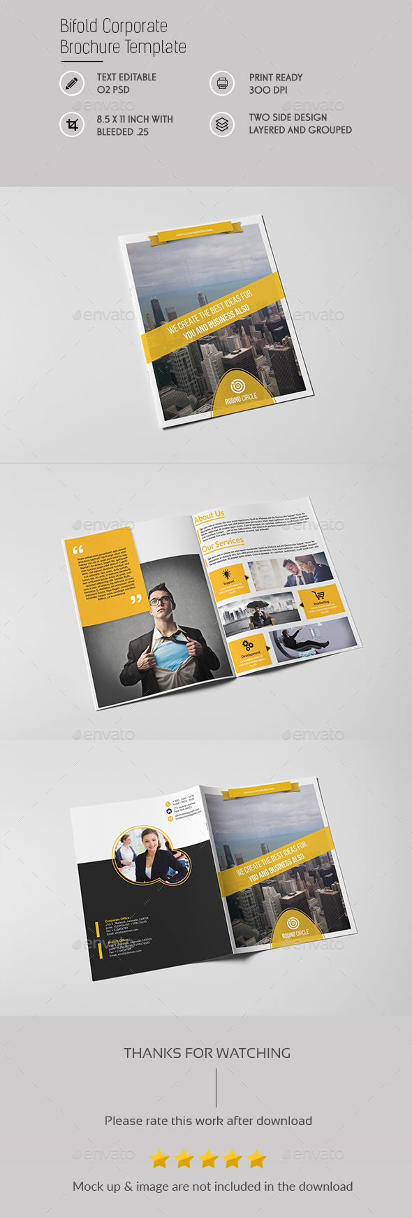 Bifold Corporate Brochure - Brochures Print Templates