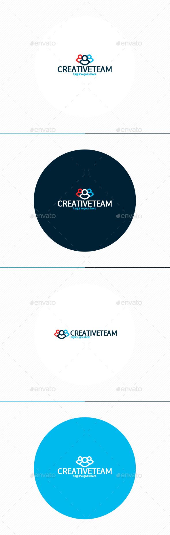 Creative Team Logo - Humans Logo Templates