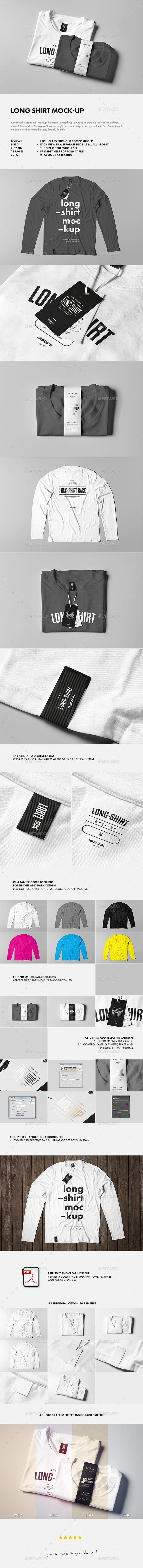 Long Shirt Mock-up - T-shirts Apparel