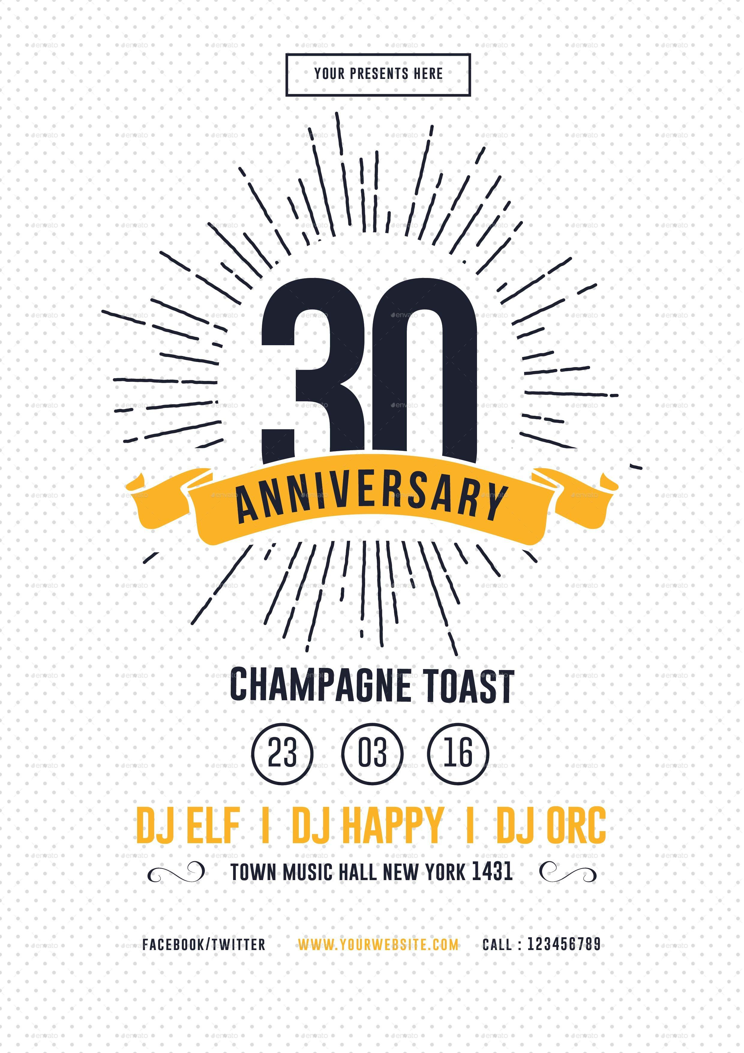 Anniversary Flyer | Vintage Anniversary Flyer By Lilynthesweetpea Graphicriver