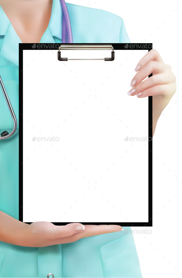 Doctor Holding Clipboard - Health/Medicine Conceptual