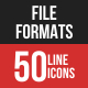 File Formats Filled Line Icons