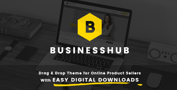 Business Hub | Responsive WordPress Theme For Online Business - Business Corporate
