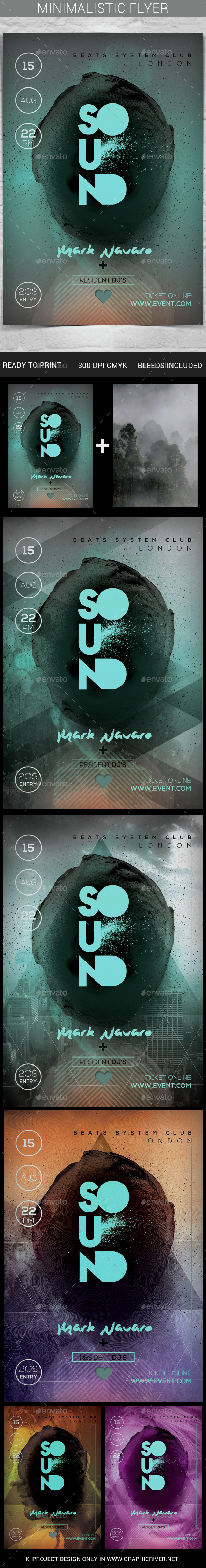 Minimalistic Flyer - Clubs & Parties Events
