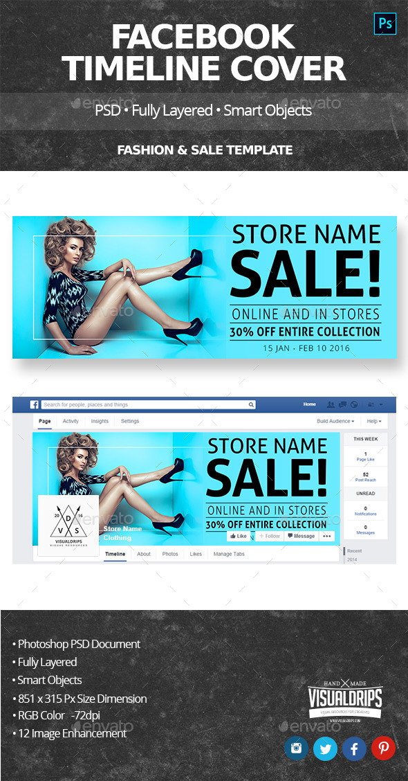 Sales Facebook Timeline Cover  - Facebook Timeline Covers Social Media