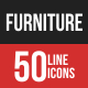 Furniture Filled Line Icons