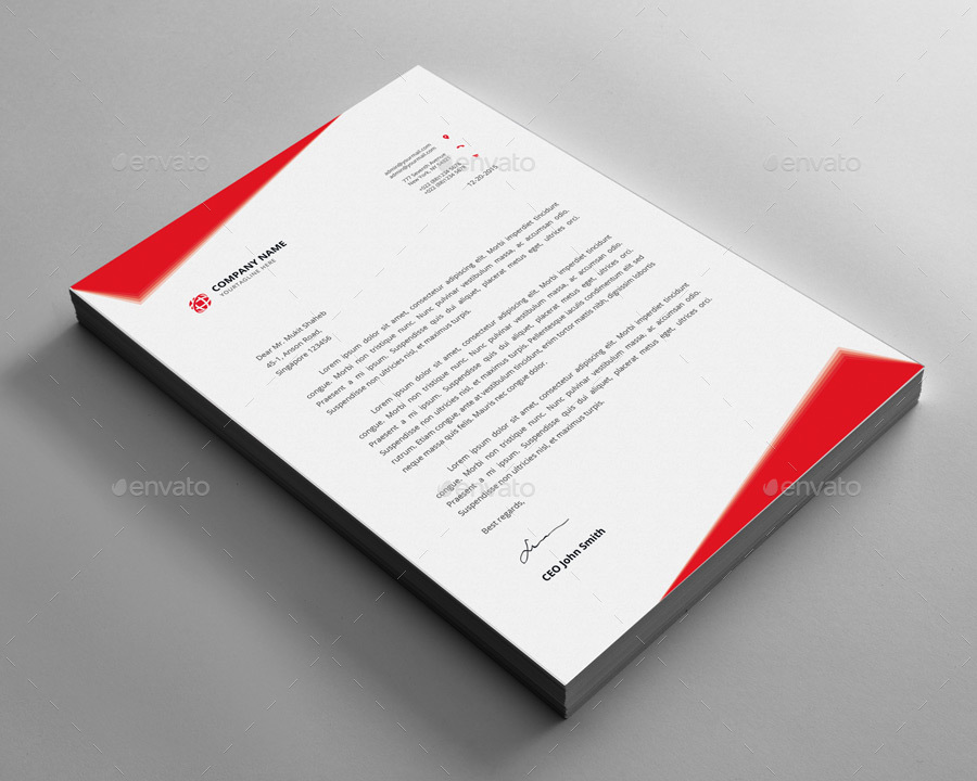 Letterhead design by elitedesigner graphicriver letterhead design spiritdancerdesigns Images