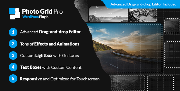 Photo Grid Pro - WordPress Interactive Grid Gallery Builder - CodeCanyon Item for Sale