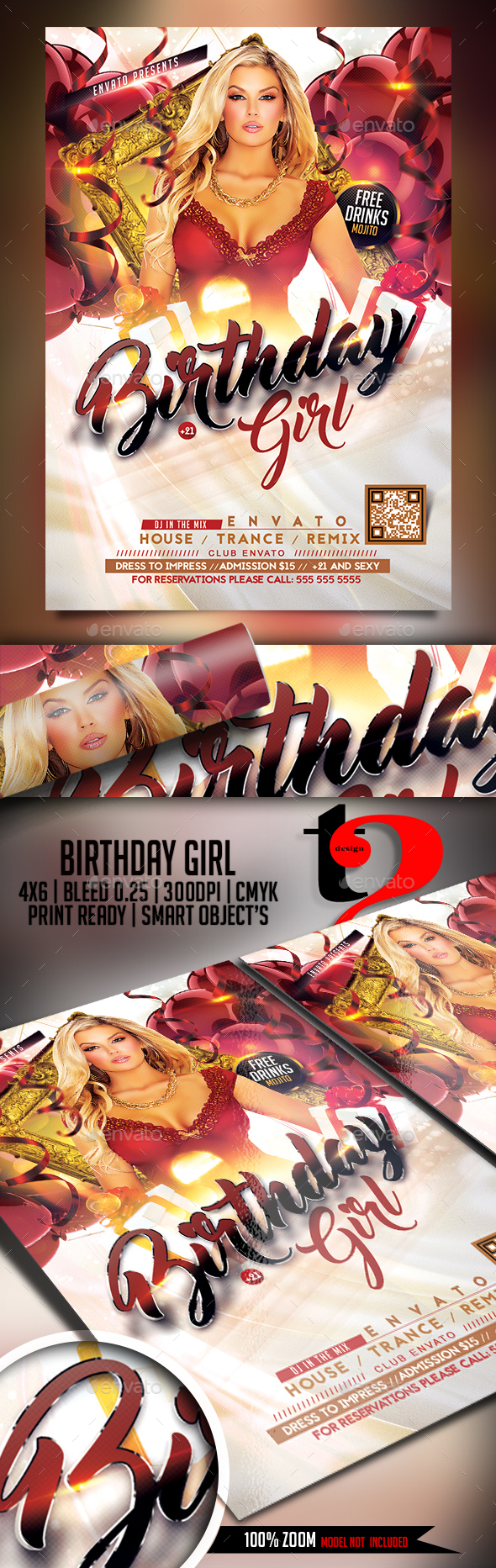 Birthday Girl Flyer - Clubs & Parties Events