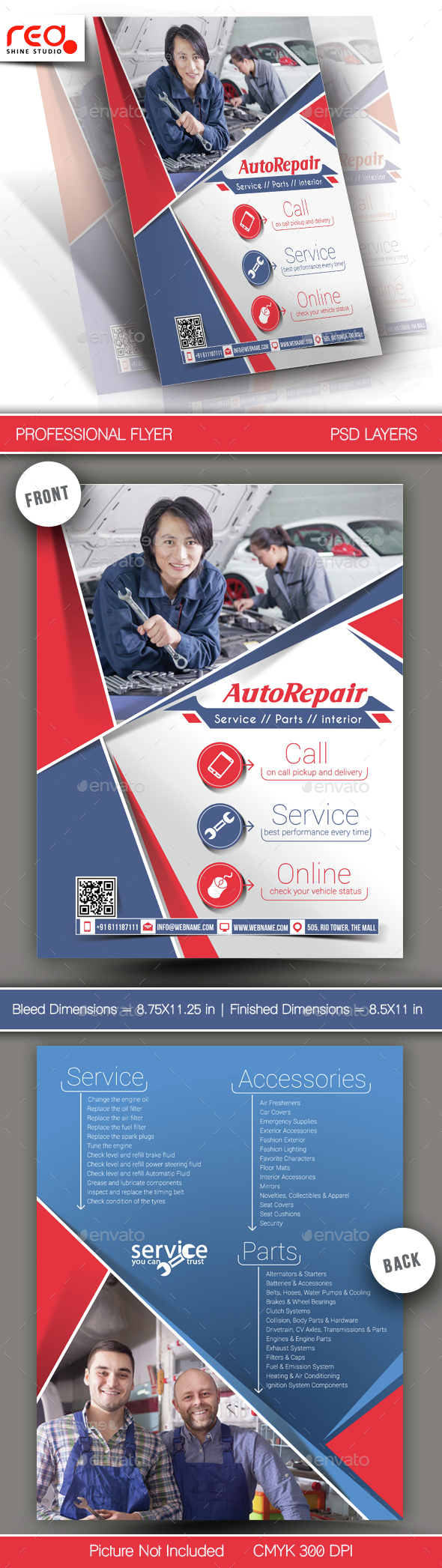 Auto Center Flyer Template  - Corporate Flyers