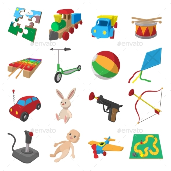 Toys Cartoon Icons Set - Miscellaneous Icons